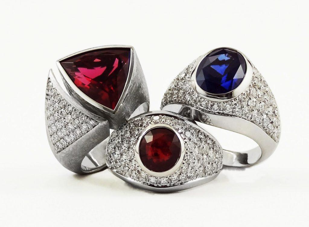 Серебро с камнями