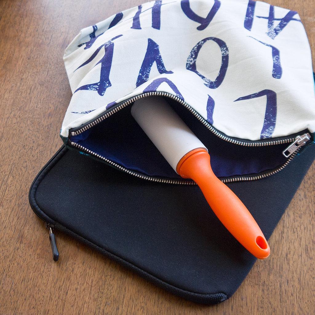 Чистка сумки роликом